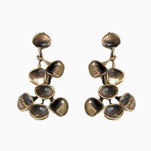 Laava Earrings by Hannu Ikonen for Valo-Koru, 1970s, Set of 2