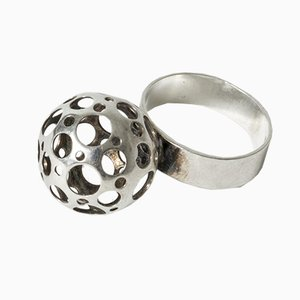 Silver Ladybird Ring by Liisa Vitali for Nesto, 1974