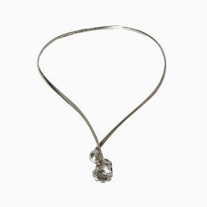 Silver and Rock Crystal Neck Ring by Arvo Saarela for Arvo Saarela, 1971