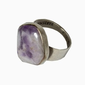Silver and Amethyst Ring from Gussi, 1957
