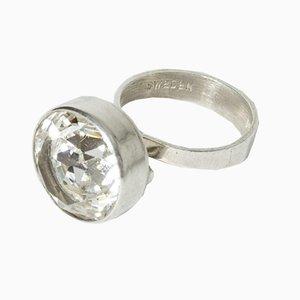 Ring aus Silber & Bergkristall von Kaplans, 1969