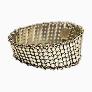 Vintage Enamel Link Silver Bracelet by Einar Modahl, Norway 1960s