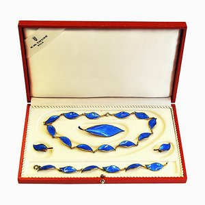 Mid-Century Jewelry Set by Willy Winnæss for David Andersen, Norway, 1950s, Set of 5