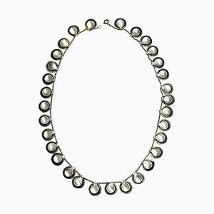 Vintage Guillocher Muster in Silber von Grete Prytz Kittelsen für Jacob Tostrup, 1950er