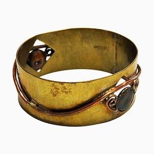 Mid-Century Armband aus Messing & Kupfer von Anna-Greta Eker, Norwegen, 1960er