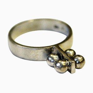 Silberner Vintage Ring von Michelsson Eftr Ab, Schweden, 1970er
