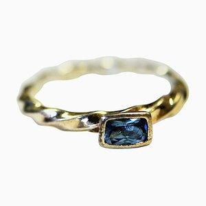 Silberner Blue Stone Ring von Hans Henrik Hansen für Spinning Jewelry, 1970er