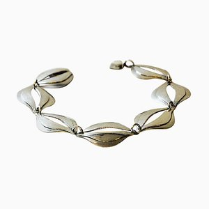 Bracelet Vintage en Argent par Erik Svane pour Stilsmycken, Sweden, 1960s