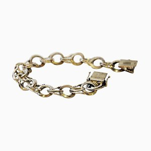 Vintage Silver Bracelet with Rings by CG Hallberg, Sweden, 1974