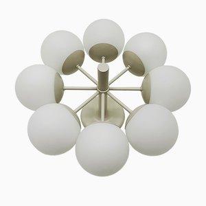 Opalglas Sputnik Kronleuchter von Kaiser Leuchten, 1960er