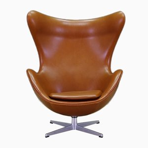 Danish Leather Armchair by Arne Jacobsen for Fritz Hansen, 1960s