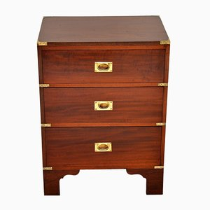 Military Campaign Mahogany Chest of Drawers, 1920s
