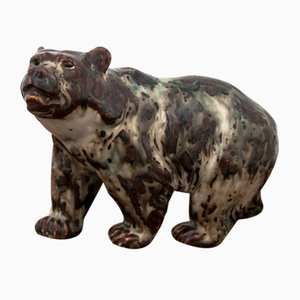 Bear Figurine by Knud Khyn for Royal Copenhagen, 1950s