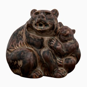 Bear Figurine by Knud Khyn for Royal Copenhagen, 1950s