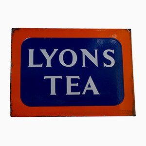 Double Sided Enamel Lyons Tea Advertising Sign from Lyons Tea, 1930s