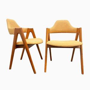 Mid-Century Teak Compass Stühle von Kai Kristiansen SVA Mobler, Dänemark, 1960er, 2er Set
