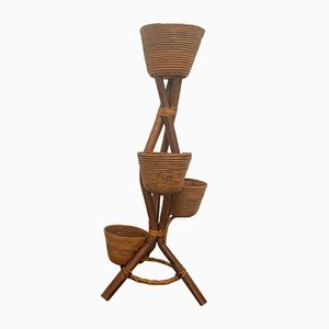 Italienische Bambusvase, 1960er