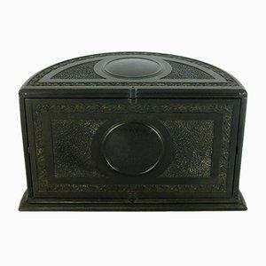 Englischer Vintage Zigarettenbehälter aus schwarzem Bakelit von Linsden, 1920er