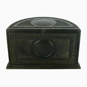 Vintage English Black Bakelite Cigarette Dispenser Box from Linsden, 1920s