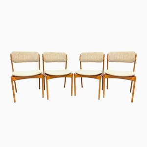 Mid-Century Teak Domus Danica Chairs by Erik Buch for Odense Maskinsnedkeri / O.D. Møbler, Denmark, 1950s, Set of 4