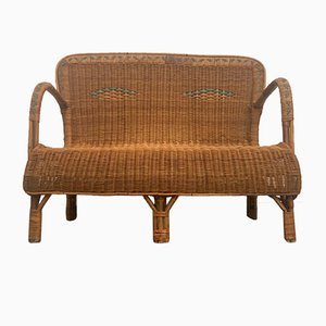 Bamboo and Rattan Sofa, 1950s