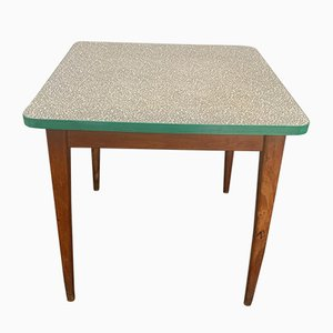 Coffee Table with Green Mosaic Laminate Top, 1950s
