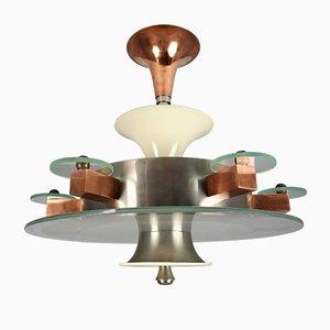 Art Deco Bauhaus Ceiling Lamp, 1930s