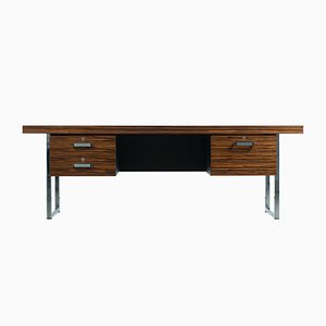 Desk in Macassar Ebony and Chrome by Trevor Chinn for Gordon Russell, England, 1970s