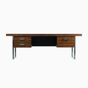 Schreibtisch aus Macassar Ebenholz und Chrom von Trevor Chinn für Gordon Russell, England, 1970er