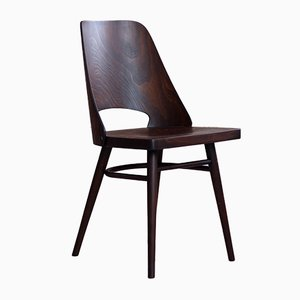 Beech Veneer Dining Chairs by Oswald Haerdtl for TON, 1950s, Set of 4