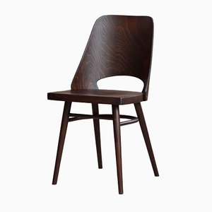 Beech Veneer Dining Chairs by Oswald Haerdtl for TON, 1950s, Set of 8