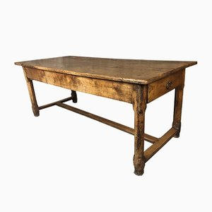 18th Century Farmhouse Dining Table in Walnut