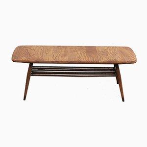 Table Basse avec Porte-Revues par Lucian Ercolani pour Ercol, 1960s
