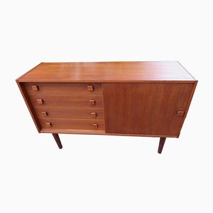 Small Danish Teak Model Domino Sideboard from Domino Møbler, 1960s