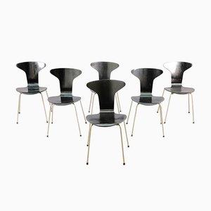 Chaises de Salon Moskito 3105 Mid-Century par Arne Jacobsen pour Fritz Hansen, Set de 6