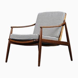 Deutscher Mid-Century Sessel mit Hermès Bezug von Hartmut Lohmeyer für Wilkhahn, 1950er
