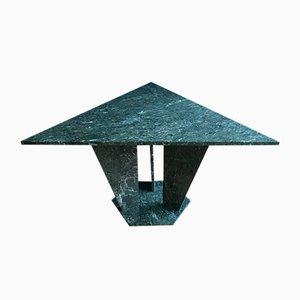 Dreieckiger Mid-Century Verde Alpi Marmor Tisch, 1960er