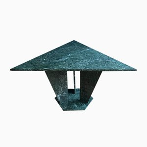 Mid-Century Verde Alpi Marble Triangular Table, 1960s