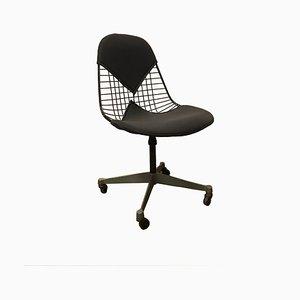 Chaise de Bureau DKR et Chaise Vintage en U Gris Foncé par Charles & Ray Eames pour Herman Miller