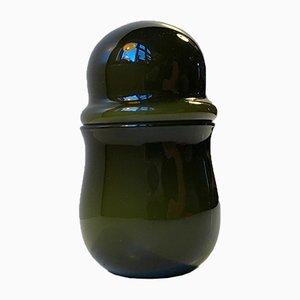 Pot à Couvercle Vert par Michael Bang pour Holmegaard, 1970s