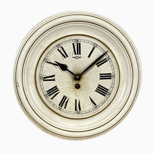 Vintage White Iron Clock from Kienzle International, 1930s