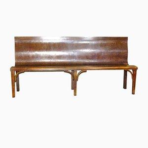 Vintage Wooden Bistro Bench, 1930s