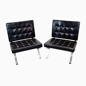 Mid-Century Lounge Chairs by Gastone Rinaldi for Rima, Set of 2