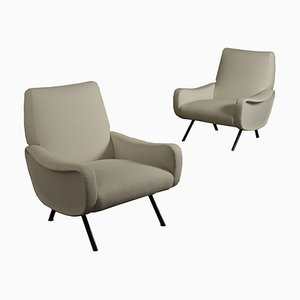 Mid-Century Italian Lounge Chairs by Marco Zanuso for Arflex, 1950s, Set of 2