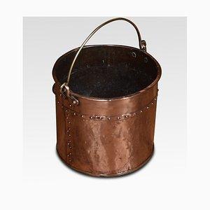 19th Century Copper Buckets, Set of 2