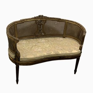 Small Antique French Gold Lacquered Sofa