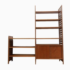 Mid-Century Teak Shelving Bookcase Wall Storage Unit by Ladderax