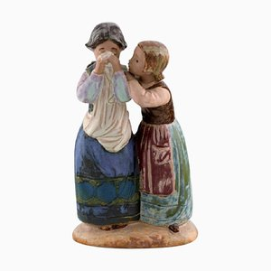Large Vintage Figure in Glazed Ceramic from Lladro, Spain