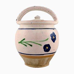 Lidded Maternity Jar in Glazed Stoneware from Kähler, Denmark, 1930s