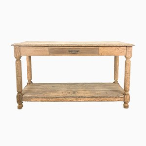 Antique Bleached Oak Draper Table
